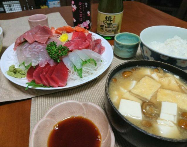 池波正太郎の著書、男の作法に触発されて刺身で飯を食う