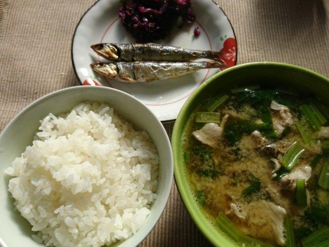 煮えばなが美味い土鍋飯!一汁一菜でよい。