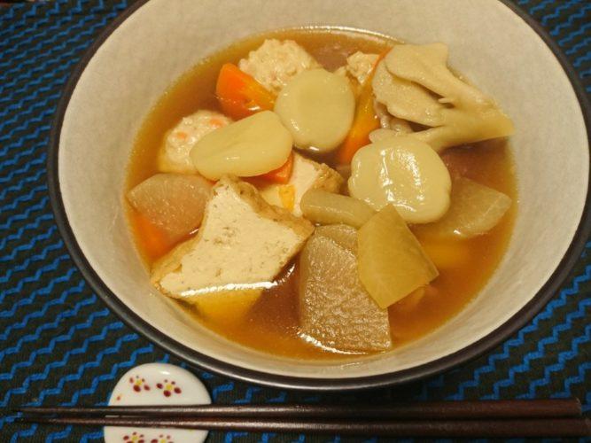 寒い晩は岩手の郷土料理、ひっつみが美味しい