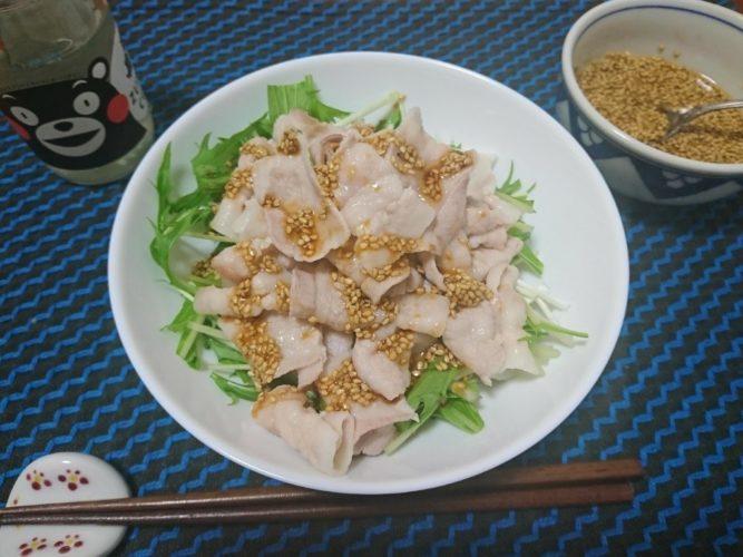 豚しゃぶのゴマダレー、日本3大納豆菌宮城野納豆。