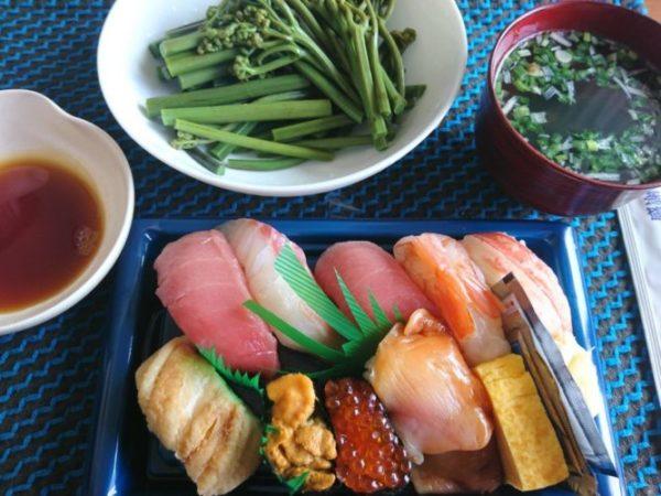 仙台駅エスパル地下にある仙台北辰の寿司とわらび