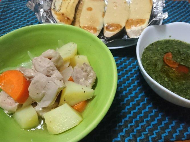 塩ポトフとモロヘイヤスープ、茄子の味噌マヨチーズ焼きで健康な食卓