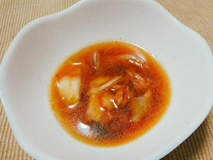 舞茸鍋にキムチ