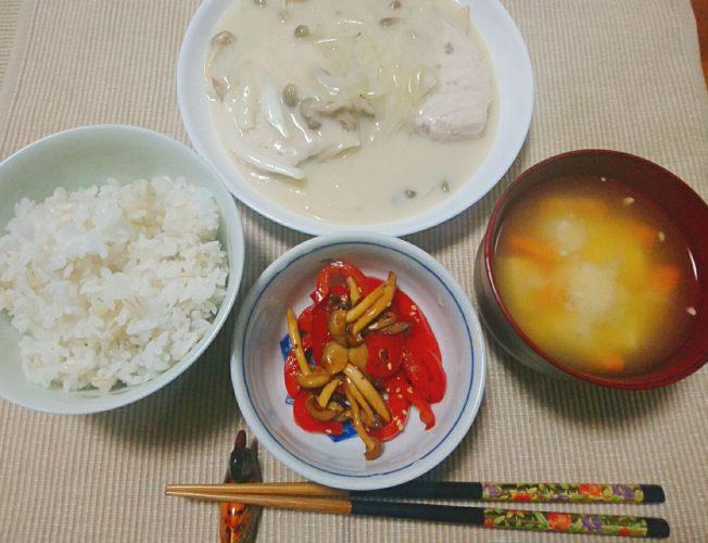 カジキマグロのクリーム煮