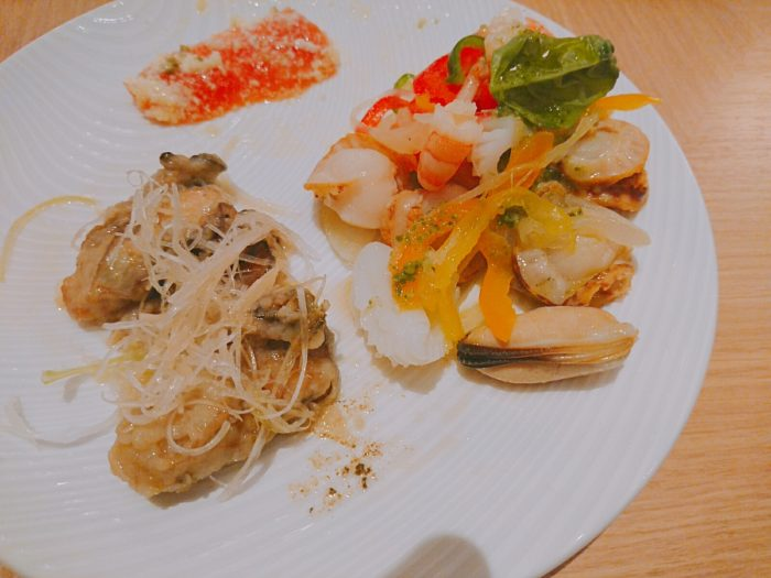 牡蠣とホタテ