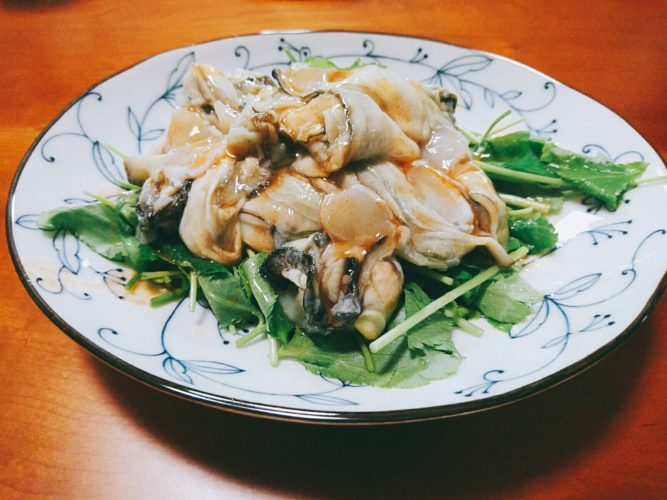 楽天イーグルスで一献!おうち帰ってタバスコ牡蠣と稲庭うどんを味どうらくで食べて〆る。
