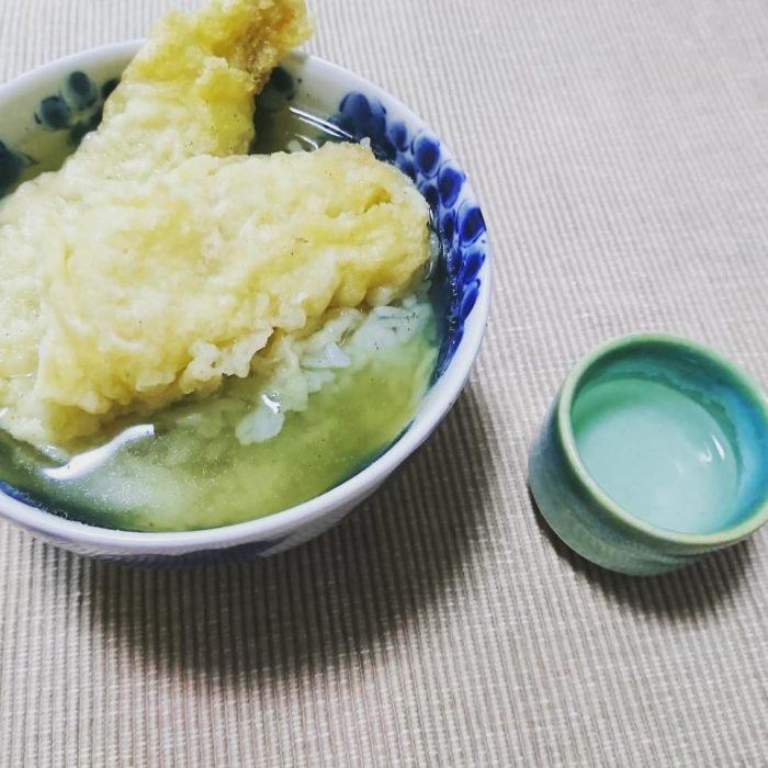 穴子の天ぷら茶漬けで一献