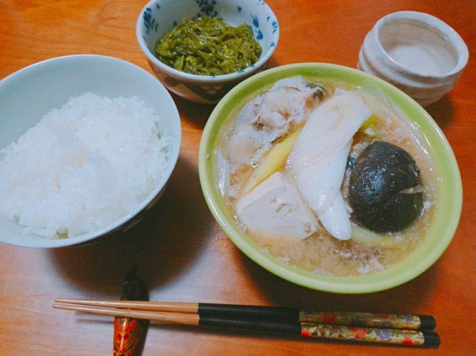 どんこのお魚と椎茸で美味しいお汁