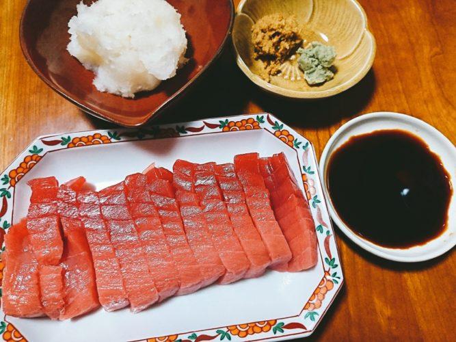 魯山人醤油で食べる本マグロと仙台で知った生めかぶの味