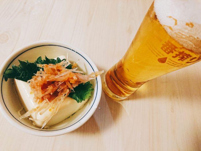 梅水晶とビール