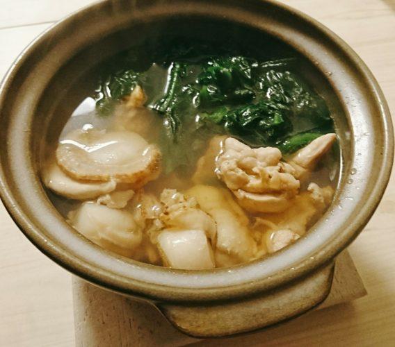 フライパンで作る焼き椎茸とプチ寄せ鍋