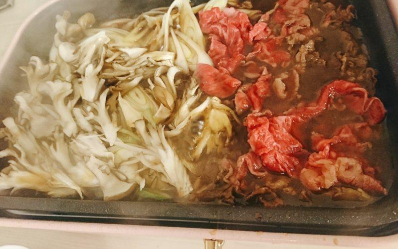 細切れ肉作るすき焼きとスパイシーなホタルイカ