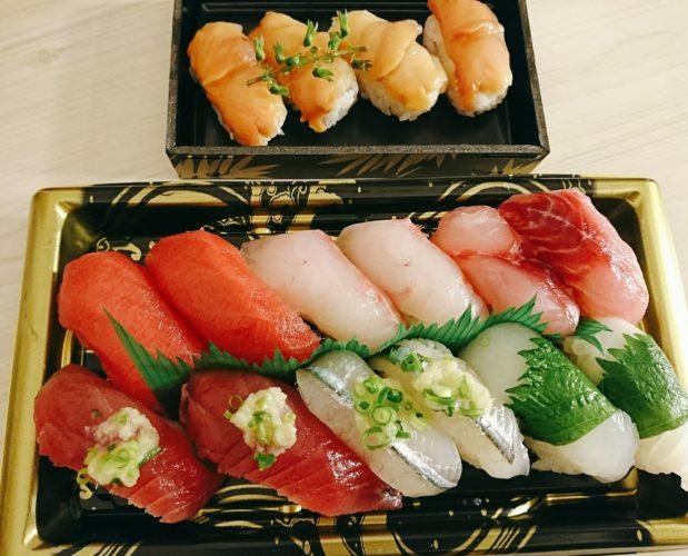 久々のお寿司とミョウガの風味が美味しいお吸い物