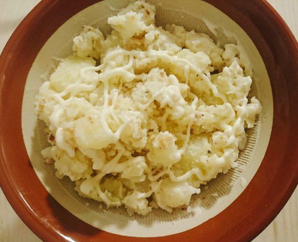 燻製ナッツ入りポテサラ、レタスのお浸し