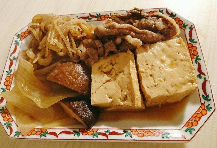 松坂牛の細切れで作った贅沢な肉豆腐