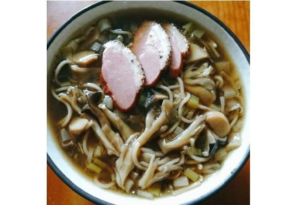 鴨スモーク蕎麦