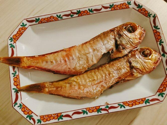 ちっちゃいけど美味しい甘鯛の干物と松前漬け