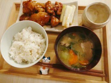 生利節(なまり節)の味噌汁と鶏の照り焼き