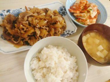 おうちで楽しむキムチ牛皿定食