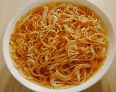 素麺と麺つゆで作る和風冷麺