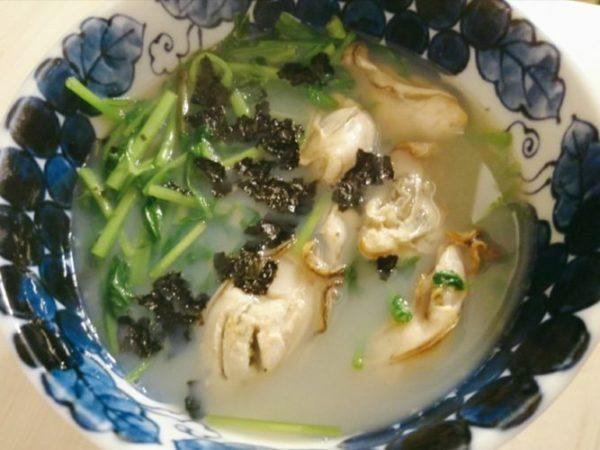 牡蠣と芹の煮物