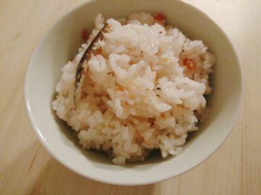 サバ缶で作るサバじゃがと梅と煮干しの炊き込みご飯