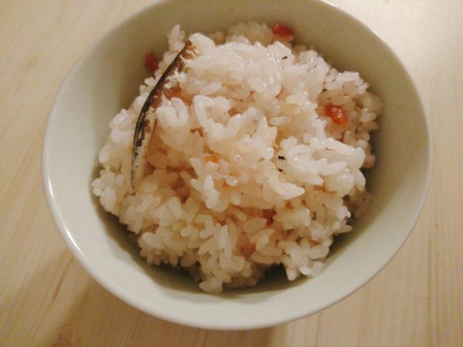 梅と煮干しの炊き込みご飯