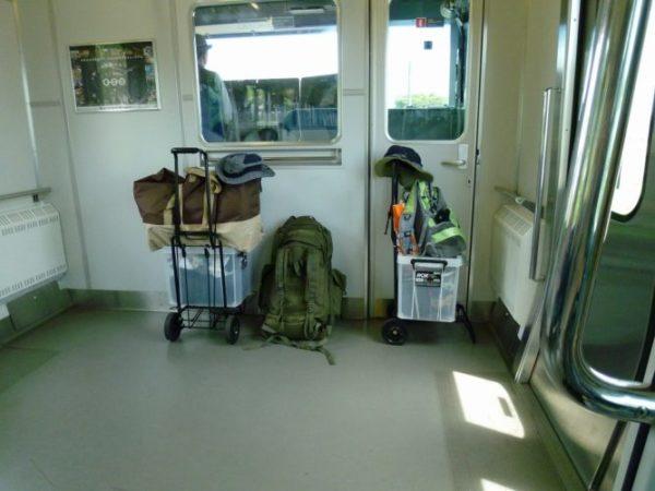 電車で行くキャンプ