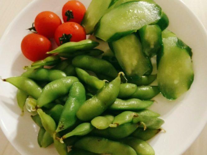 枝豆ときゅうり