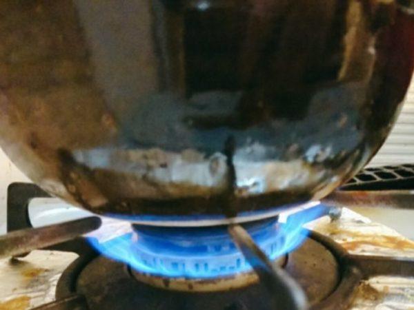 中火で加熱