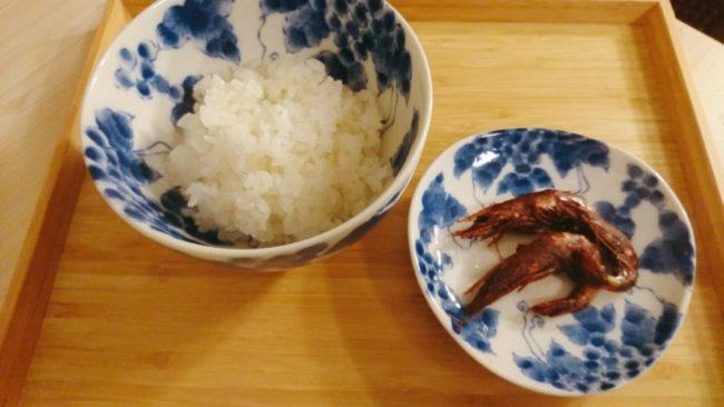 佃煮風車蝦と飯