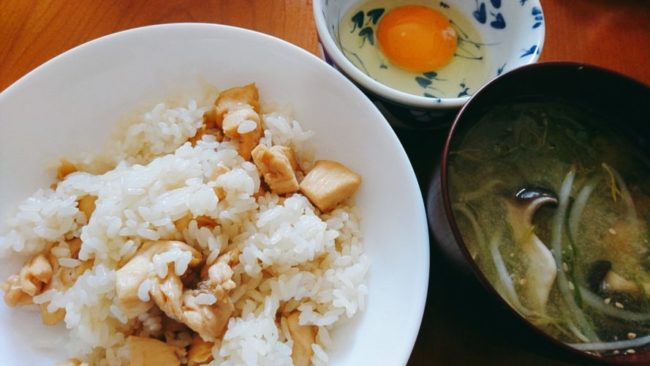 鶏むねの醤油煮とご飯