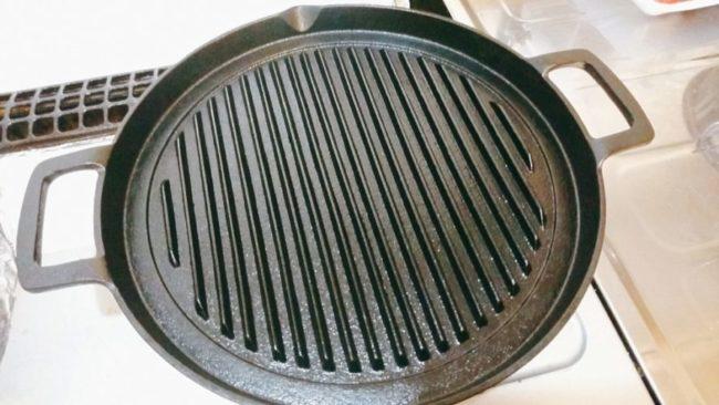 南部鉄器のグリルパン