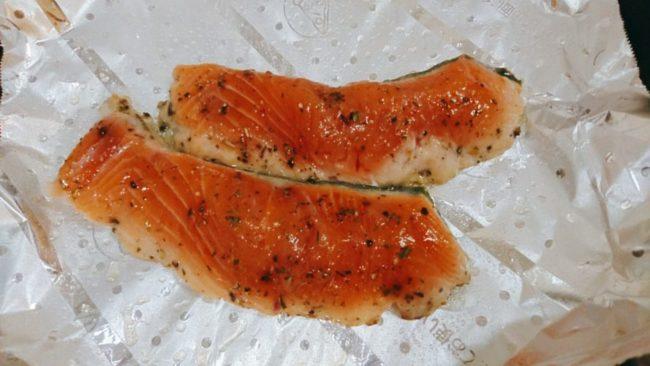 魚焼き用アルミホイルで焼く