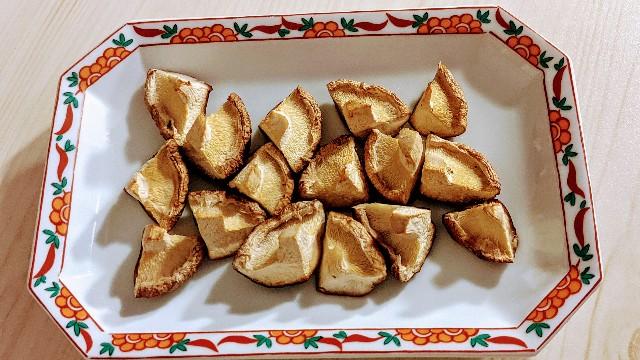 魚焼きグリルで焼き椎茸