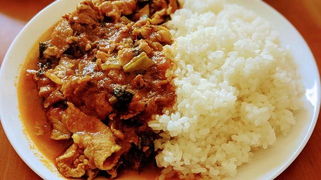 豚肉と小松菜のカレー