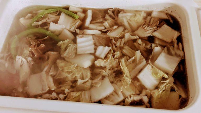 煮えた野菜