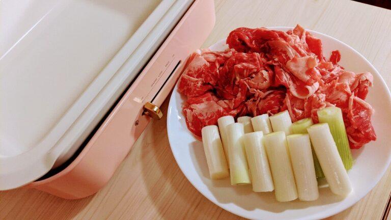 セラミックコート鍋ですき焼き